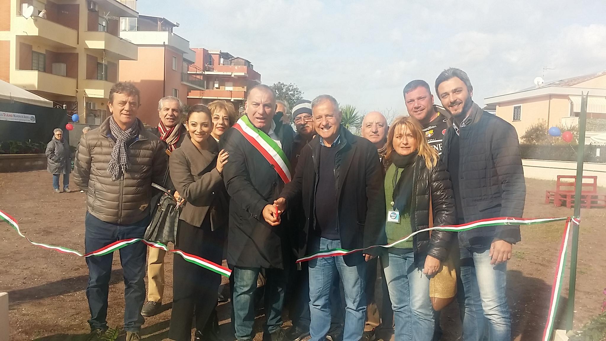 Inaugurato il parco pubblico di via Firenze