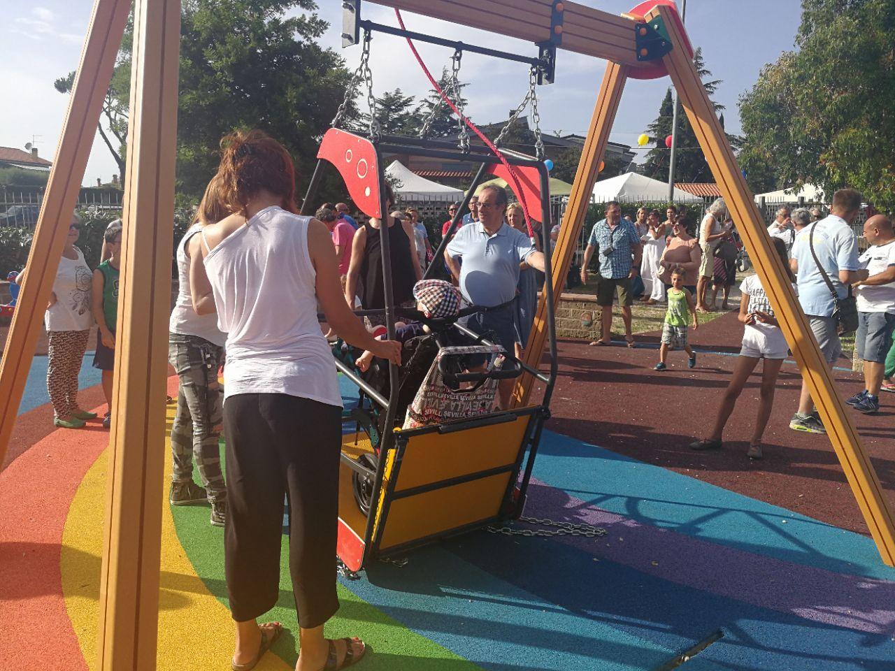 Inaugurato il primo parco inclusivo di Ardea