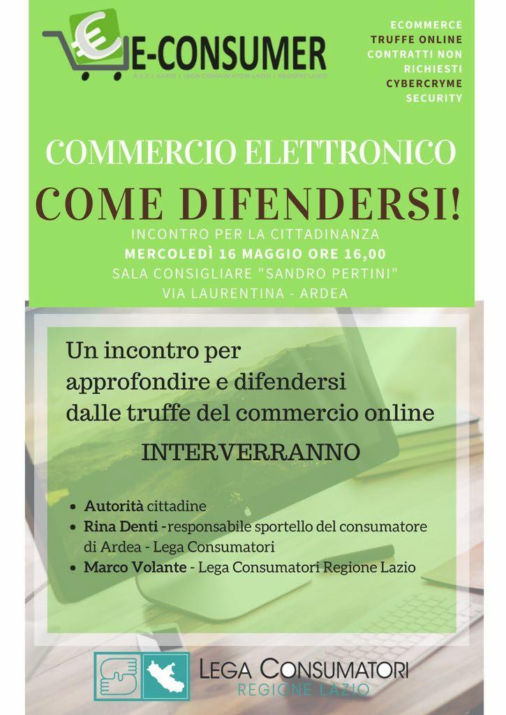 Evento – Commercio elettronico: come difendersi!