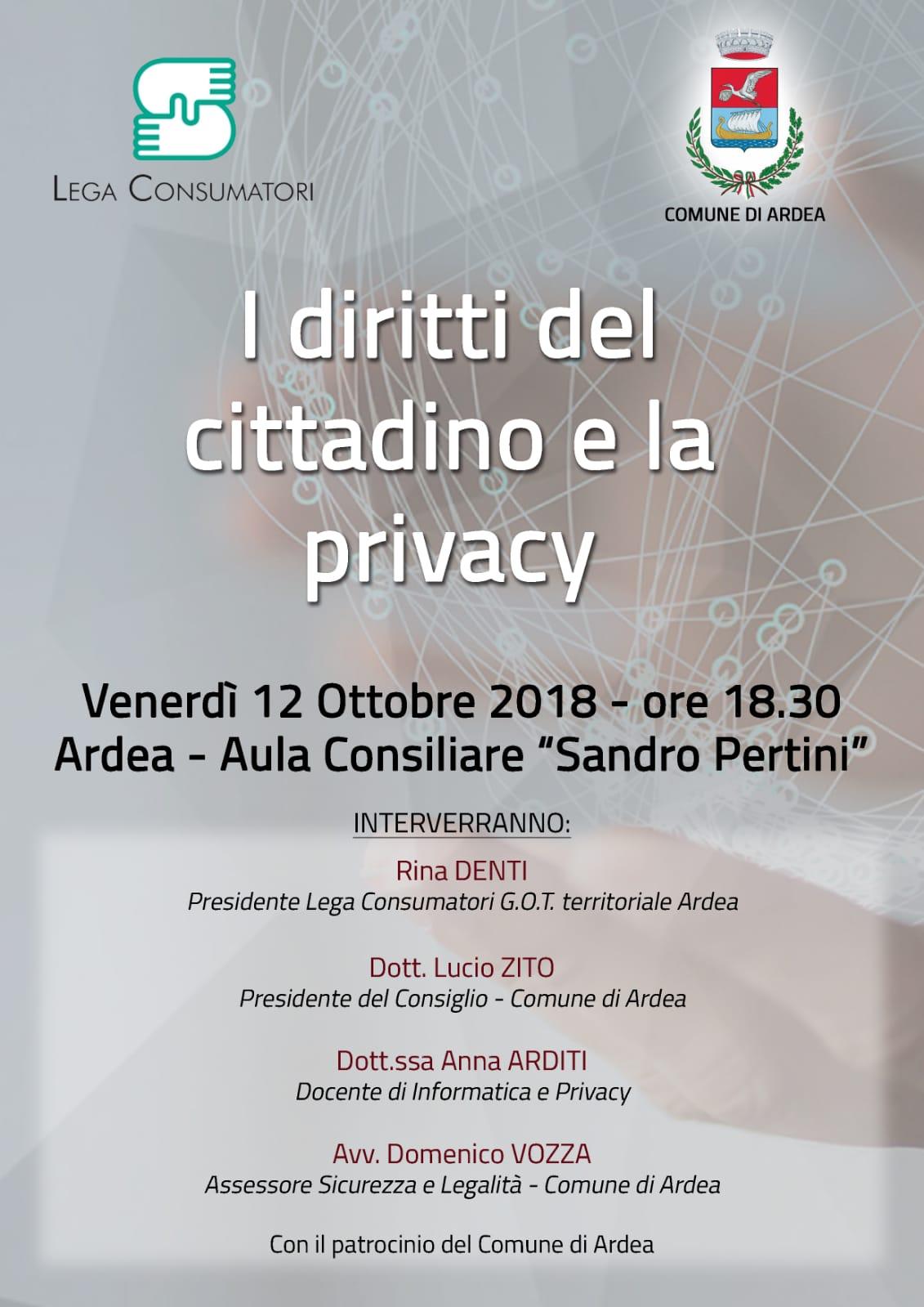 I diritti del cittadino e la privacy