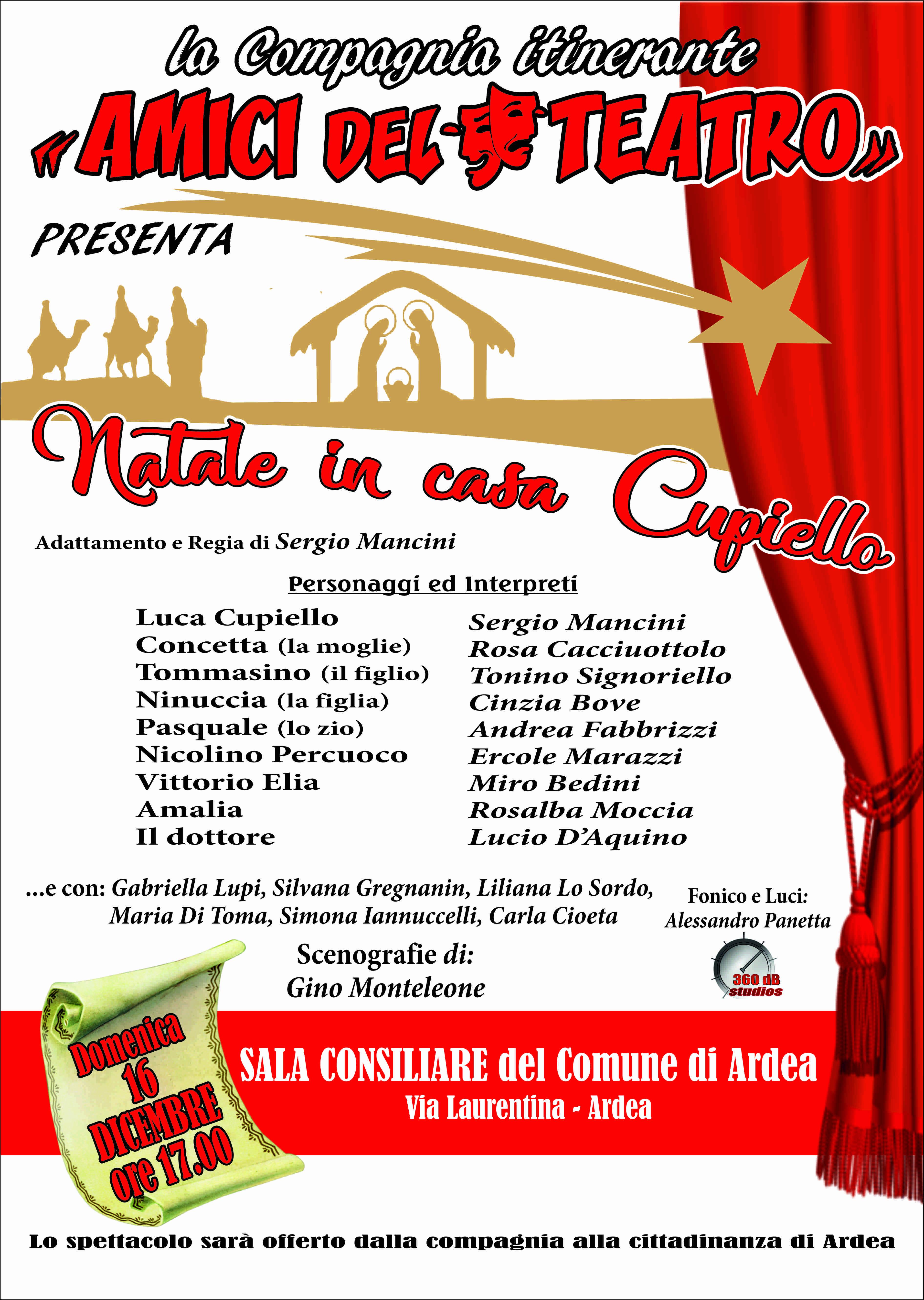 Evento Teatrale – Domenica 16 dicembre ore  17.00