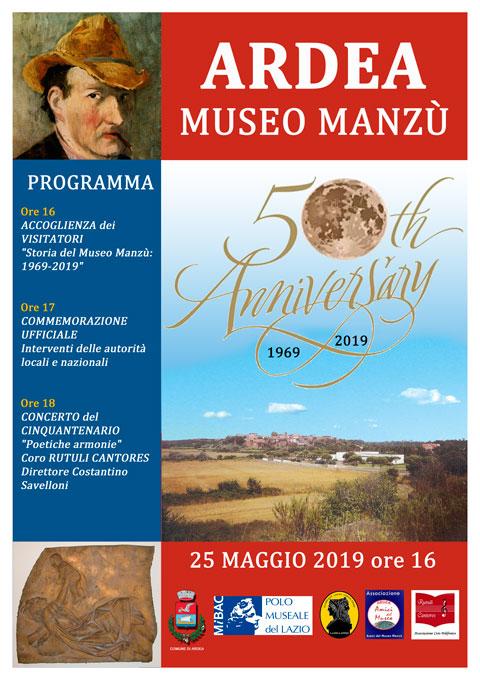 Museo MANZU' – 50° Anniversario. 25 maggio 2019