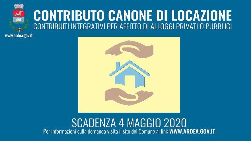 AVVISO PUBBLICO PER LA CONCESSIONE DI CONTRIBUTI STRAORDINARI PER IL PAGAMENTO DEI CANONI DI LOCAZIONE 2020 (Scadenza 04 maggio 2020).
