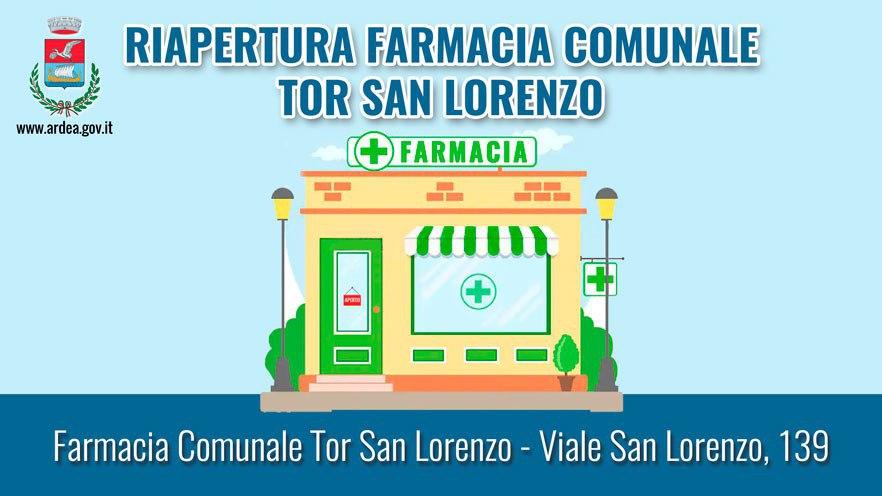 Riapre la farmacia di Tor San Lorenzo