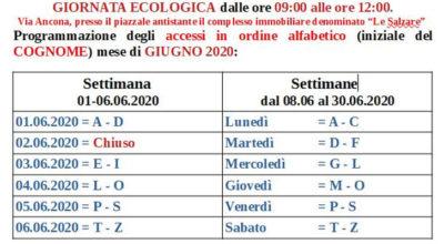 Giornata Ecologica mese di giugno 2020