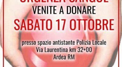 RACCOLTA SANGUE CROCE ROSSA ITALIANA- COMITATO DI ARDEA
