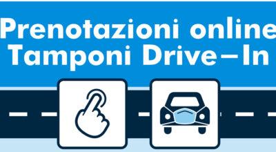 PRENOTAZIONE ONLINE TAMPONI DRIVE-IN DAL 23 OTTOBRE