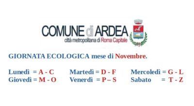ACCESSI GIORNATA ECOLOGICA MESE DI NOVEMBRE 2020