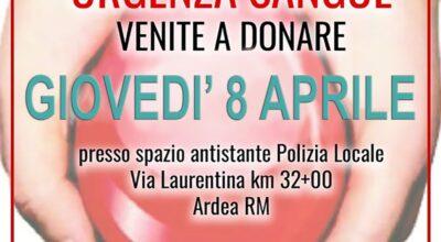 RACCOLTA SANGUE CROCE ROSSA ITALIANA – COMUNE DI ARDEA