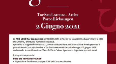 FIERA DEL GUSTO 2 GIUGNO 2021
