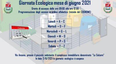 GIORNATA ECOLOGICA GIUGNO 2021
