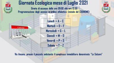 ACCESSI GIORNATA ECOLOGICA MESE DI LUGLIO 2021